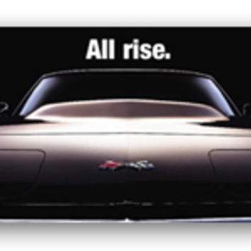 Corvette Art Poster - All Rise.-Chevy Mall