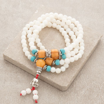 Mother of Pearl Wrap Wrist Mala