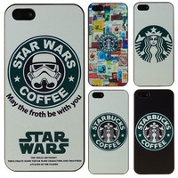 Hot Starbucks Star wars coffee design phone case for iphone 5 case