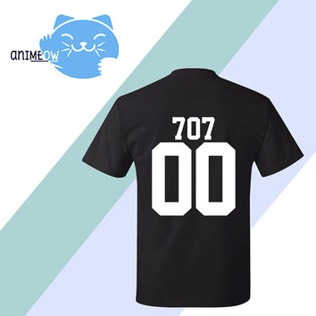 707 Mystic Messenger Inspired Game Jersey Style T-Shirt