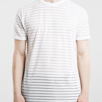 WHITE OVERSIZED STRIPE TSHIRT
