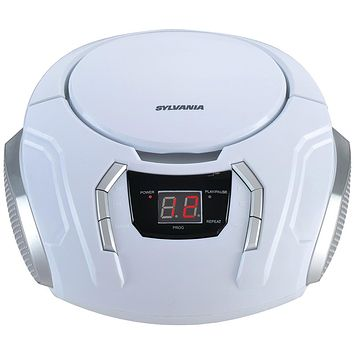 Sylvania Portable Cd Player With Am And Fm Radio (white)