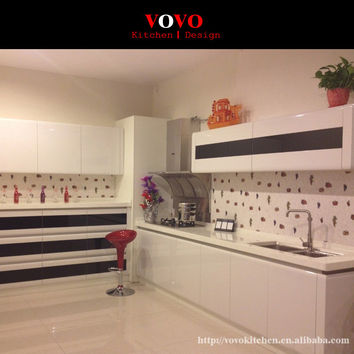 New design design high gloss lacquer kitchen cabinets white color modern painted kitchen furnitures