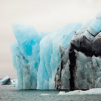 Iceberg Photo, Jokulsarlon Iceland, Winter Photography, Turquoise Blue, Black, Ice, Frozen Glacier, Arctic - The Colors of Cold