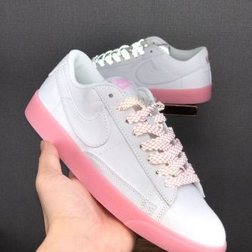 HCXX 19June 983 Nike Blazer Low LX Canvas casual sports shoes pink