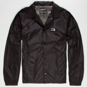 Rvca Bert Krak Special Edition Anp Mens Coaches Jacket Black  In Sizes