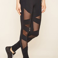 Active Zigzag Mesh Leggings