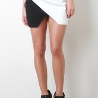 Two Tone Leatherette Skirt
