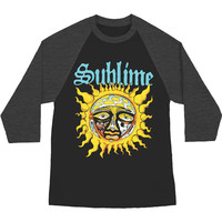 Sublime Men's  Sun Baseball Jersey Charcoal