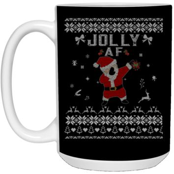 Cool Jolly AF Ugly Christmas Sweater 21504 15 oz. White Mug