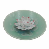 Stardice Lotus Ceramic Incense Holder / Burner Water Drop Series (Blue)stardice