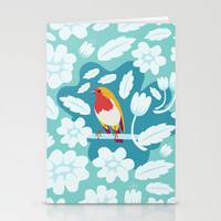 Coloured Robin Stationery Cards by Ornaart