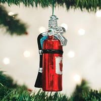 Old World Christmas Handcrafted Blown Glass Ornament -- Fire Extinguisher