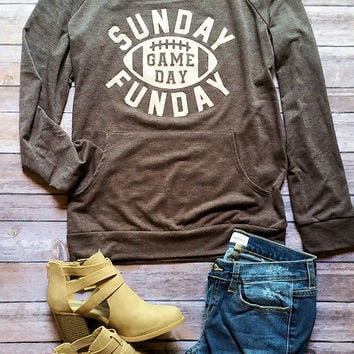 Sunday Funday Gameday Graphic Pullover