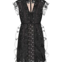 Silk and lace minidress