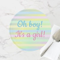 Oh boy! It's a girl! Peek-a-boo cake stand