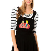 The Beavis and Butthead Pinafore Dress in Black