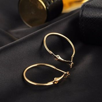 6 PCS/LOT Gold Color Big Hoop Earrings Simple Style Earring