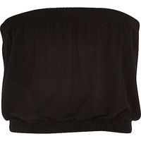 River Island Girls black plain bandeau top
