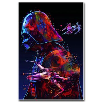 Darth Vader Star Wars Art Silk Poster Canvas Print 13x20 24x36 inches Movie Wall Pictures Home Room Decoration 018