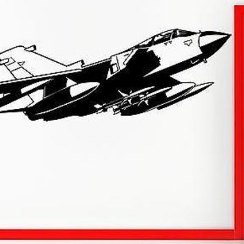 Wall Stickers Vinyl Decal Fighting Jet Airforce Airplane Military Decor Unique Gift (z2333)