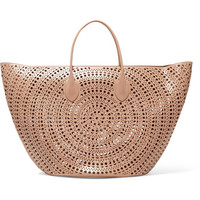 Alaïa - Large laser-cut leather tote