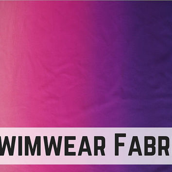 """Light Pink to Purple Ombre Swimwear Fabric! Super Chic! Sold in .65m (25.5"""") panels!"""