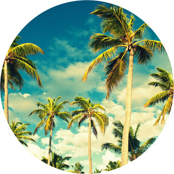Tropical Sky Circle Wall Decal