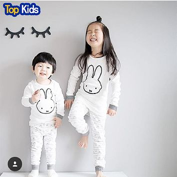 Spring and Autumn Children Pajamas Children Sets Long Sleeve Cartoon Boys Girls Clothes Set Baby Sleep wear Clothes
