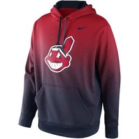Nike Cleveland Indians Mezzo Fade Performance Hoodie - Red/Navy Blue