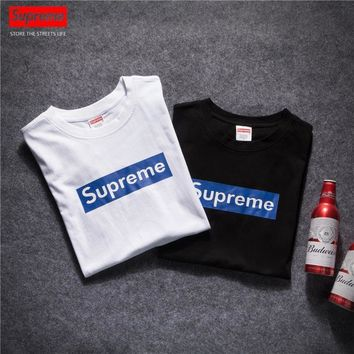 Supreme Hip Hop Box Logo Cotton Tshirt S-XL-2