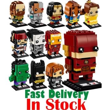 Lepin SuperHeroes IronMan Marvel Super Heroes Batman pirate Figures Building Blocks Bricks Heads Headz legoing Toys for Children
