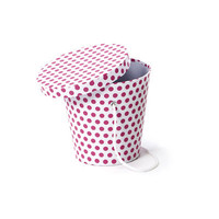 Favor Pail Box with Lid - Hot Pink Polka Dots - 24 Pack - DIY Gift Packaging