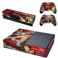 GreenApple Vault Boy Approved Skin Sticker of Fallout 4 for the Xbox One Console With Two Wireless Controller Decals - Nuka Cola