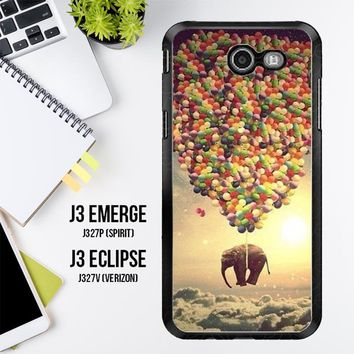 Elephant And Balloon V1482 Samsung Galaxy J3 Emerge, J3 Eclipse , Amp Prime 2, Express Prime 2 2017 SM J327 Case
