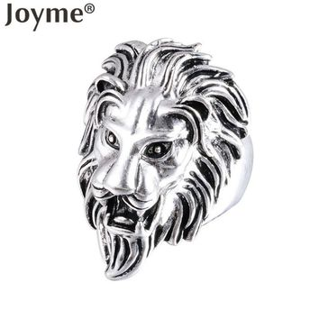 Unique Designer European Style Men Jewelry Gothic Vintage Silver Plating Animal Punk Lion Ring Women Rare Lucky Gift Anillos