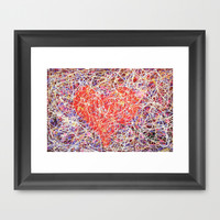 """love struck"" Framed Art Print by Jennifer Pennacchio"
