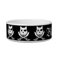 Arrr! it's the kitty roger! customizable bowl