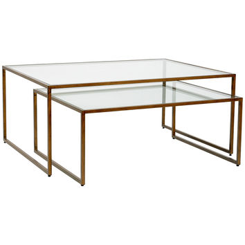 Nesting Coffee Table Set of 2 | Bronze