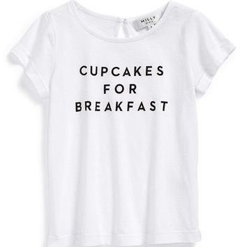 Girl's Milly Minis 'Cupcakes for Breakfast' Tee