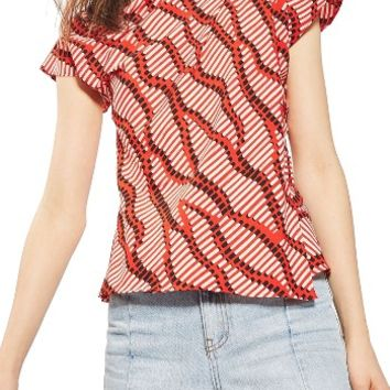 Topshop Matchstick Print Origami Top | Nordstrom