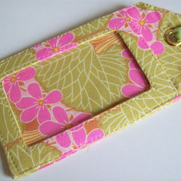 Fabric Luggage Tag made with Amy Butler Fabric