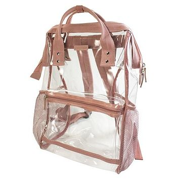 Clear Hinge Top Backpack | Ash Rose