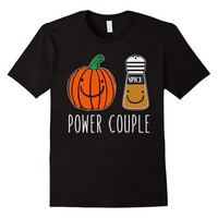 Pumpkin Spice Funny Power Couple T-Shirt