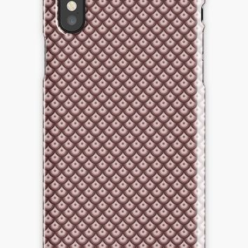 'Brownscale Fish Scale' iPhone Case by derpfudge