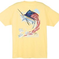 Guy Harvey Star Spangled Guy Back-Print T-Shirt