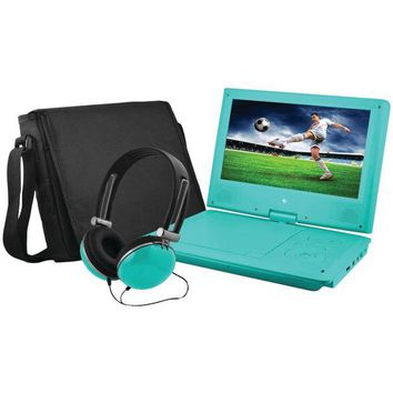 ONETOW Ematic 9' Portable Dvd Player Bundles (teal)