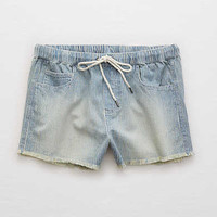 Aerie Cutoff Chambray Short , Blue