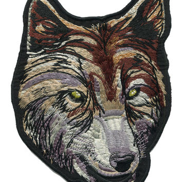 XL Extra Large 19cm Wolf Patch