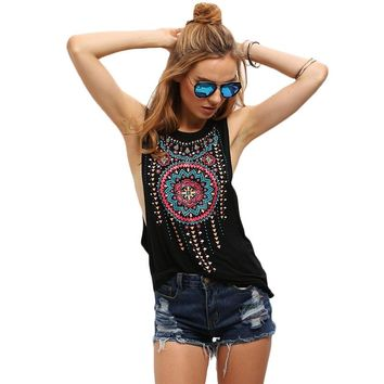 Nati Vintage Tribal Print Tank Top